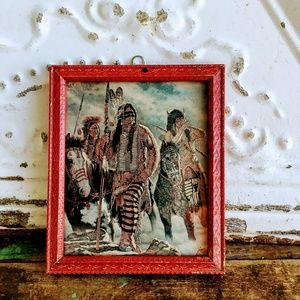Antique Native American Horses Lithograph Print